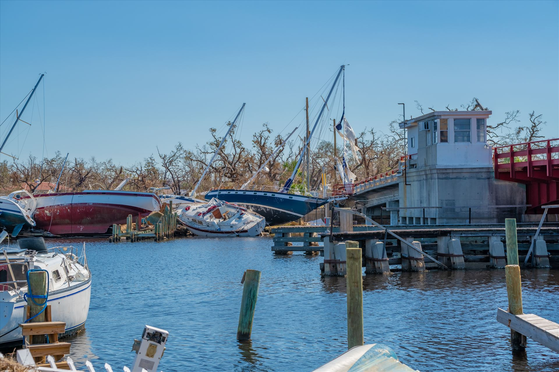 Hurricane Michael Hurricane Michael destroys sailboats in Massalina bayou, Panama City, Florida by Terry Kelly Photography