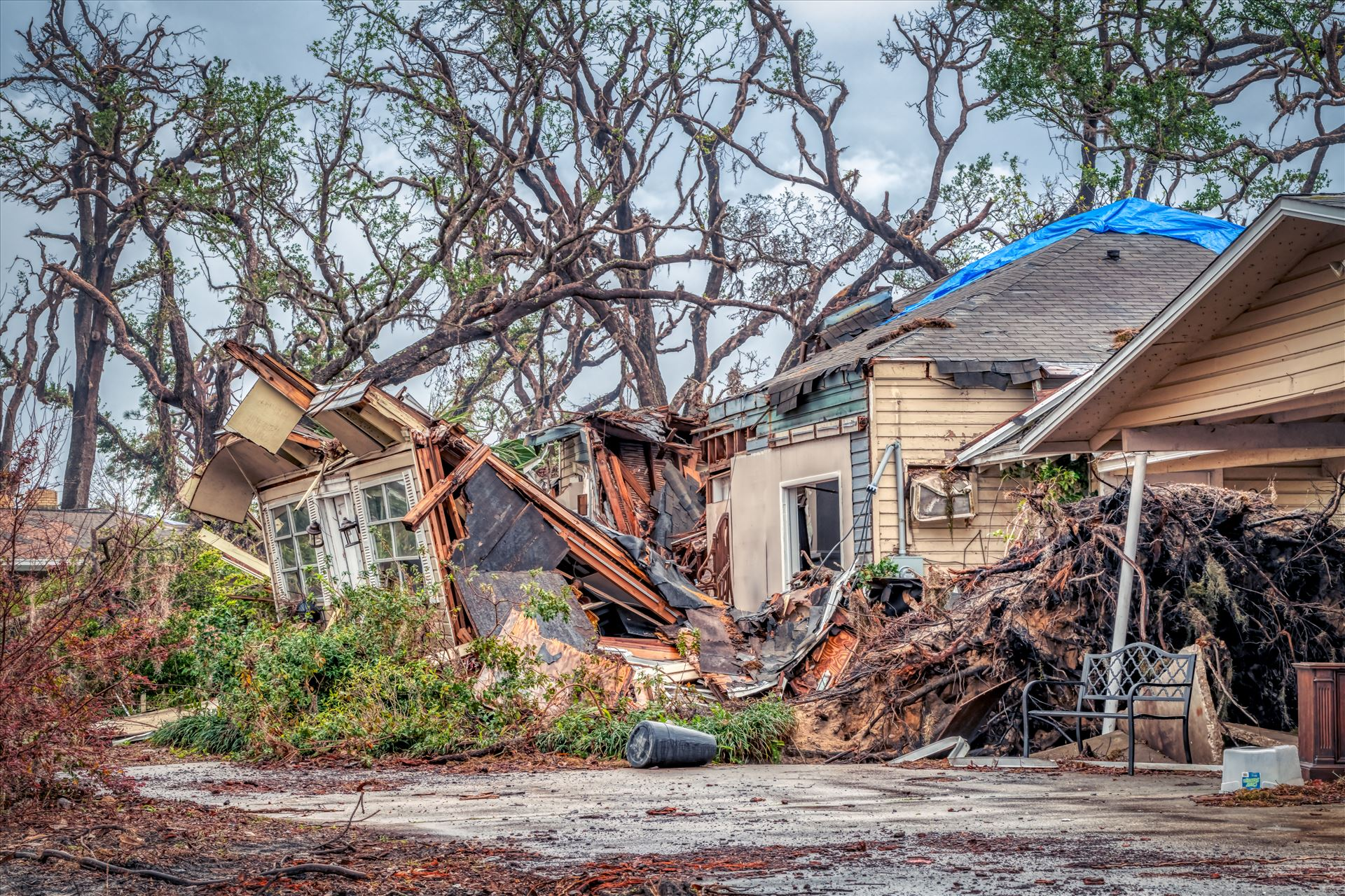 House destroyed by hurricane Michael-.jpg  by Terry Kelly Photography