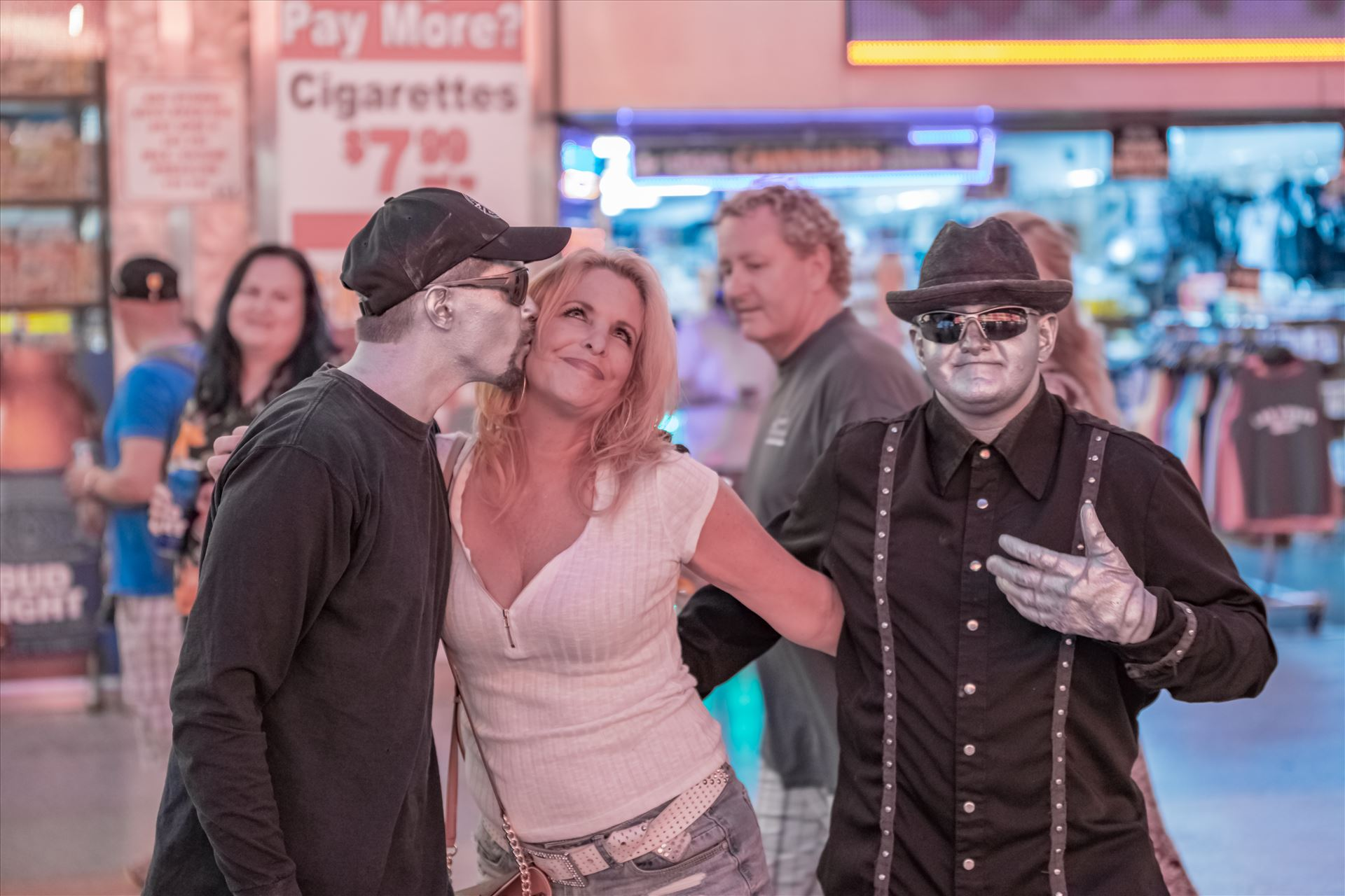 Fremont Street Experence with Tonya and make me move guys-8502635.jpg  by Terry Kelly Photography