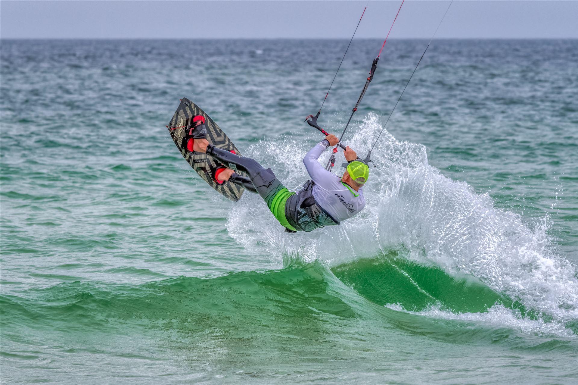 Emerald Coast Kiteboarding Kiteboarding at St. Andrews State Park, Panama City, Florida by Terry Kelly Photography
