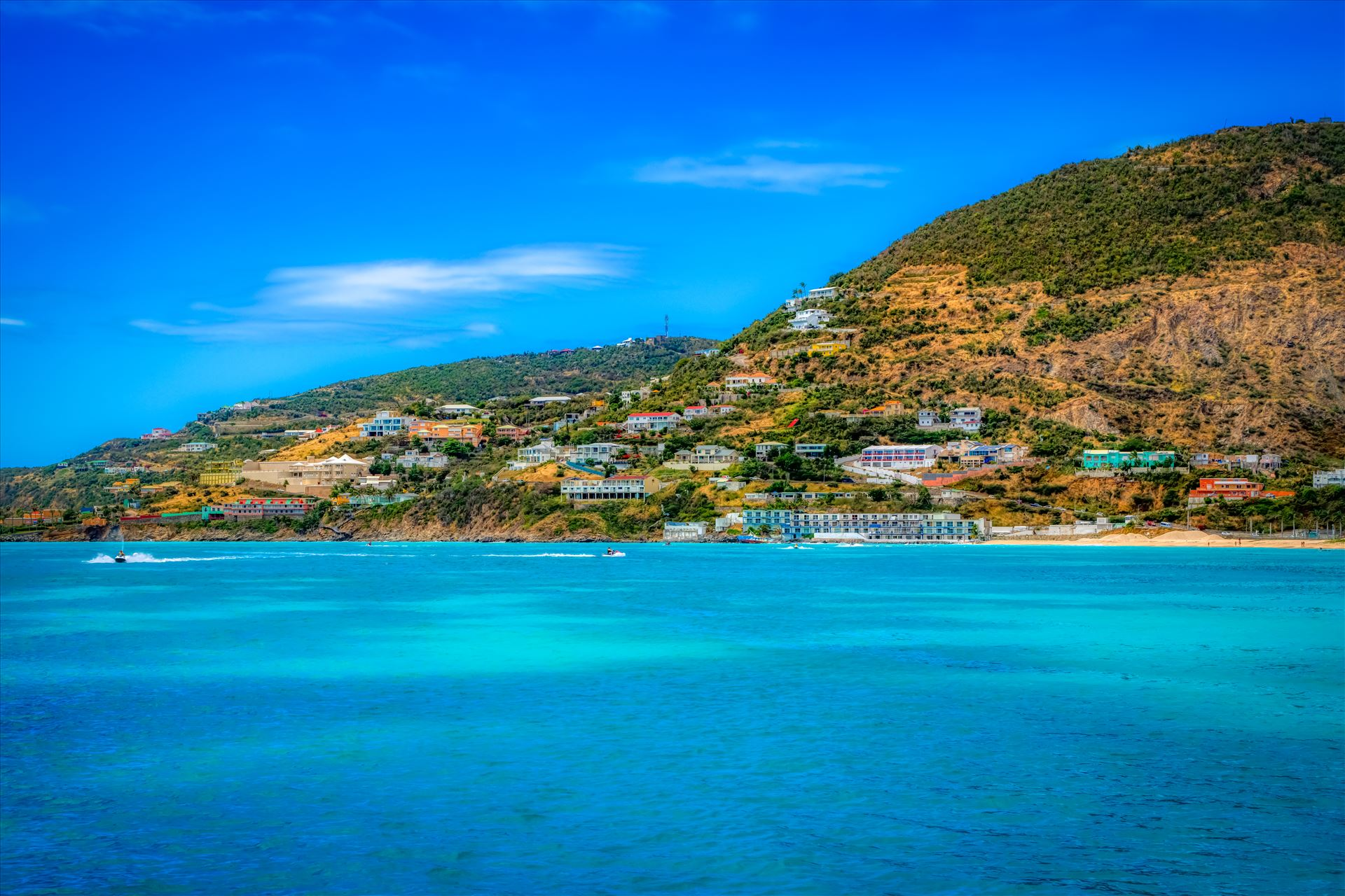 St. Maarten The city of St. Maarten on St. Martin by Terry Kelly Photography