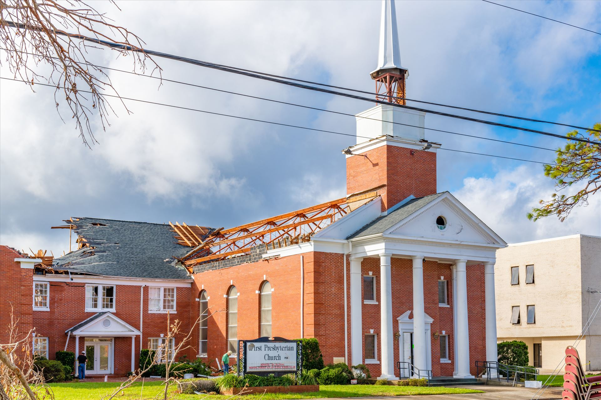 Hurricane Michael Extensive damage done to the First Presbyterian Church, down town Panama City, Florida, from hurricane Michael by Terry Kelly Photography