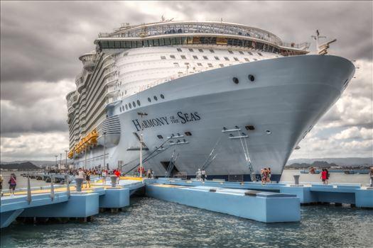 harmony of the seas - harmony of the seas docked in puerto rico