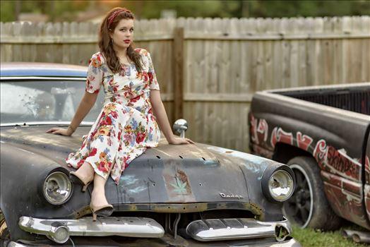 Model Ashley Inman at the 2nd annual hot rod photo shoot