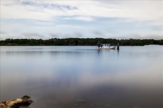 long exposure of boat in the bay 8500346.jpg by Terry Kelly Photography