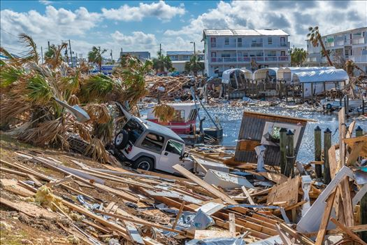 Mexico Beach, Florida, United States October 26, 2018.  16 days after Hurricane Michael. Canal Park by Terry Kelly Photography