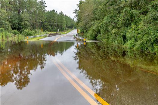 Heavy rains in Bay County Florida, Bear Creek area, South Bear Creek Road, Crook Hollow Road and Ed Lee road