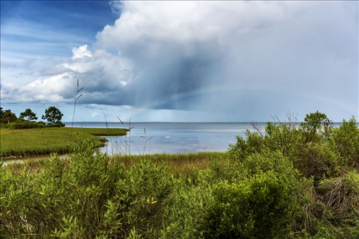 rainbow storm clouds rain st. joe bay at st. joe state park florida ss al sf RAW_5097.jpg by Terry Kelly Photography