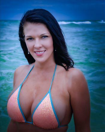 Model Christina Y at bikini model shoot by Terry Kelly Photography