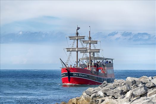 sea dragon pirate ship at the jetties st. andrews state park 8500316.jpg by Terry Kelly Photography