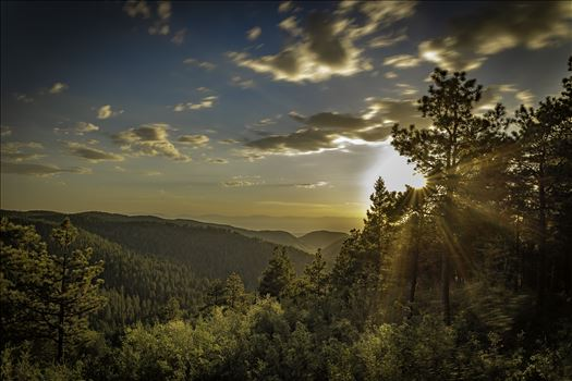 sunsetting in the cloudcroft NM mountains 8500933.jpg by Terry Kelly Photography