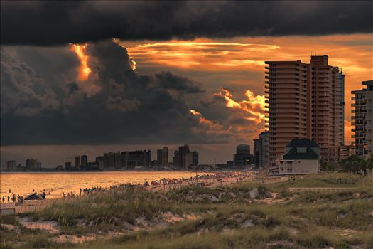 Stormy sunset thomas drive area of panama city beach florida 8500414.jpg by Terry Kelly Photography