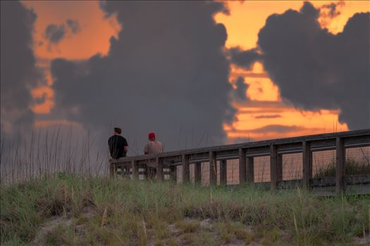 watching the sunset at St. Andrews State Park 8500436.jpg by Terry Kelly Photography