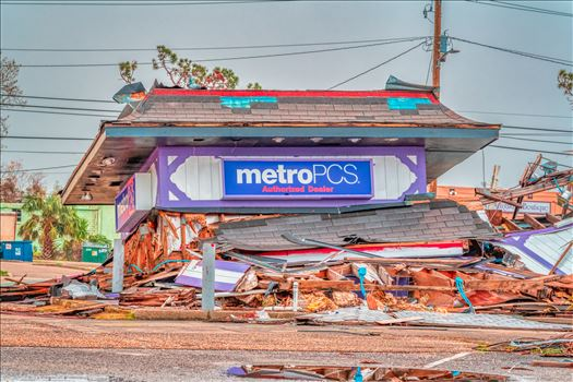 Hurricane Michael - Panama City, Florida, USA. 12/30/2018 metroPCS destroyed by Hurricane Michael