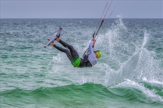 kiteboarding at St. Andrews State Park, Panama City, Florida by Terry Kelly Photography