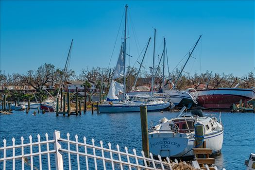 Hurricane Michael - Hurricane Michael destryos sail boats in Massalina bayou, Panama City, Florida
