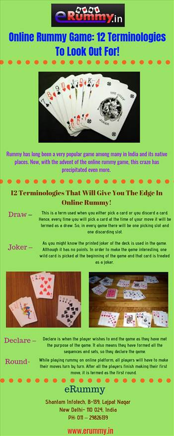 Online rummy game-12 terminologies to look out for!.jpg by Erummy