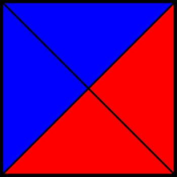 50% blue and 50% red square IV.png by shwapneel1999