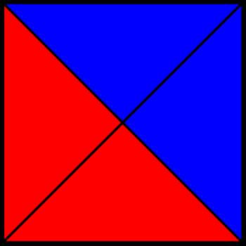 50% blue and 50% red square VI.png by shwapneel1999