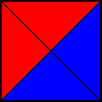 50% blue and 50% red square III.png by shwapneel1999