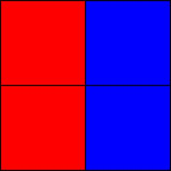 50% blue and 50% red - Part III.png by shwapneel1999