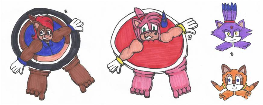 Goomba-like ones vs. Flat ones.png by shwapneel1999