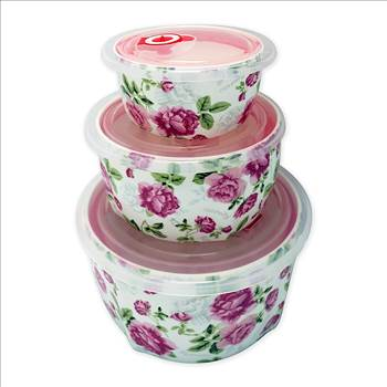 TransSino Treasures Bone China Large Microwave Bowls with Silicone Lid Pink Rose Motif Set of 3.jpg -