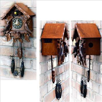 TransSino Treasures Traditional Wooden Clock with Quartz Movement and Cuckoo Chirping.jpg by TransSinoTreasures