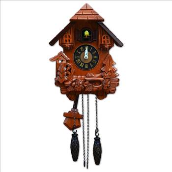 TransSino Treasures 17 inch Black Forest Quartz Cuckoo Clock with Bird Chimes The Hour.jpg by TransSinoTreasures
