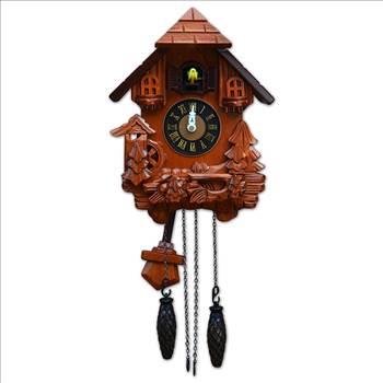 TransSino Treasures 17 inch Black Forest Quartz Cuckoo Clock with Bird Chimes The Hour.jpg -