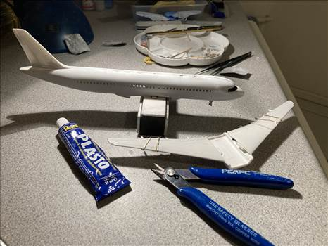 Plastering and sanding A320.jpeg by ZHA