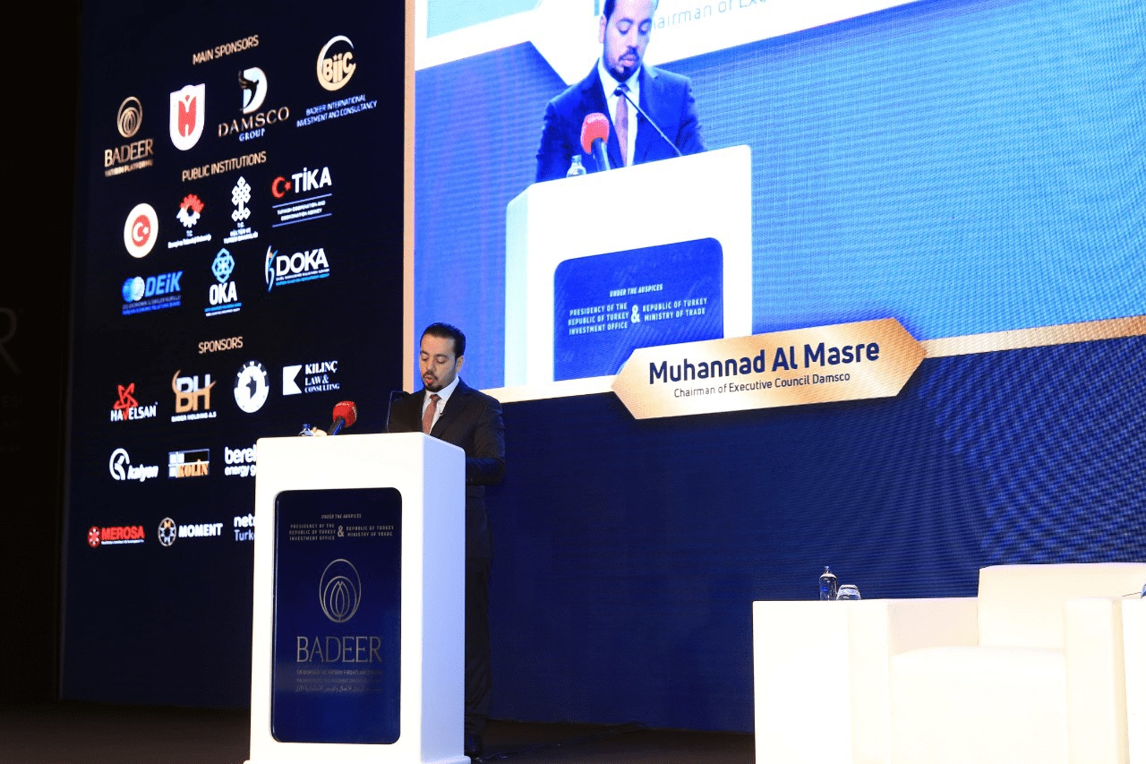 "Mohannad Al Masre مهند المصري said Damsco Group is a Bridge of Investments in the Middle East The chairman of Damsco Group, Mr. Mohannad Al Masre, presided the Group's delegation to the ""Badeer First Conference for Business and Investment Opportunities"" held in Istanbul on the 5th and 6th of December, 2018, at the Hilton Hotel in Bomonti, Istanbul by mohannadalmasre"