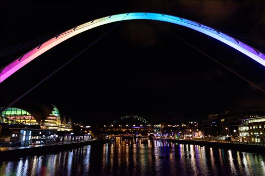 'Rainbow Bridge; , Newcastle Quayside by Graham Dobson Photography