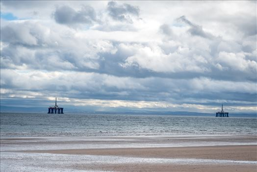 Oil Drilling rigs, off Leven Bay, Scotland by Graham Dobson Photography