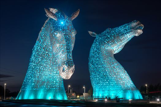 The Kelpies, Falkirk, Scotland - Blue by Graham Dobson Photography