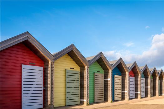 Beach Huts at Blyth, Northumberland by Graham Dobson Photography