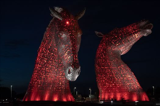 The Kelpies, Falkirk, Scotland - Red by Graham Dobson Photography
