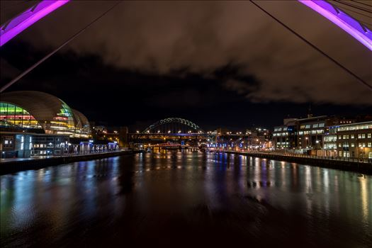 The River Tyne at Night by Graham Dobson Photography