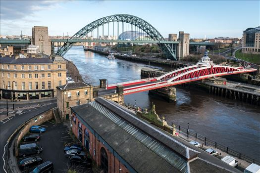 View from the High Level Bridge, Newcastle by Graham Dobson Photography