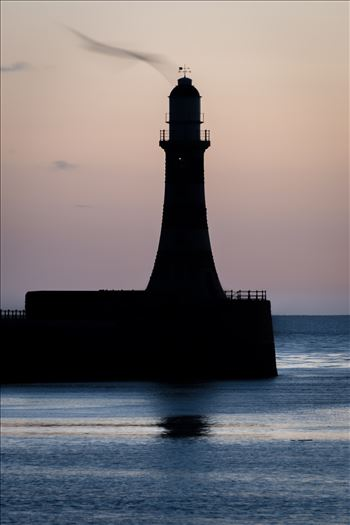 Roker lighthouse silhouette by Graham Dobson Photography