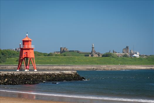 Herd Groyne Lighthouse, South Shields by Graham Dobson Photography