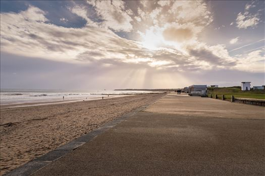 Sun-Rays over Blyth Beach, Northumberland by Graham Dobson Photography