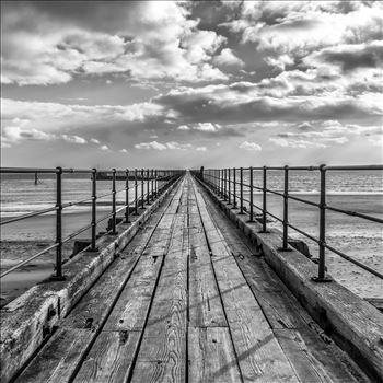 Blyth Pier, Northumberland, in B/W by Graham Dobson Photography