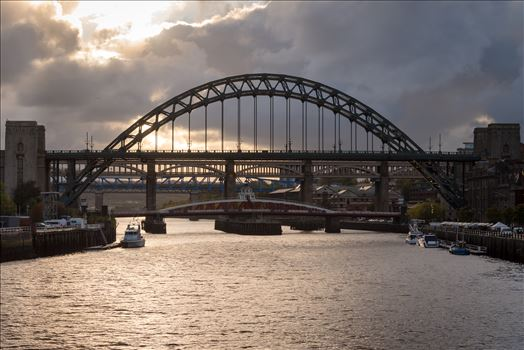Sunset over the river Tyne, Quayside Newcastle by Graham Dobson Photography