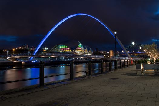The Millennium Bridge, Newcastle Quayside by Graham Dobson Photography