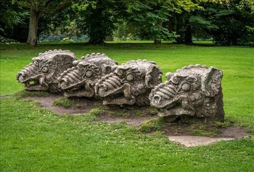 Stone Heads at Wallington Hall, Northumberland by Graham Dobson Photography