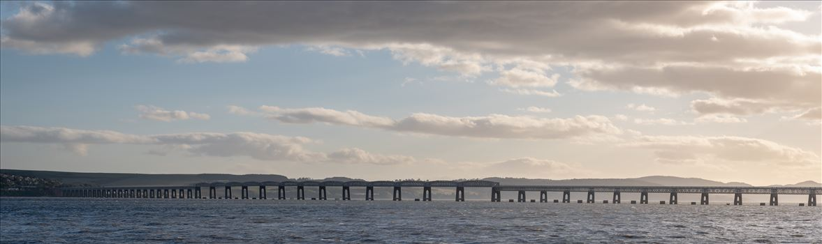 Panoramic of Tay Rail Bridge, Dundee, Scotland. by Graham Dobson Photography