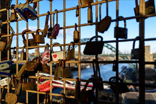 'Love Locks', on the High Level Bridge, Newcastle by Graham Dobson Photography