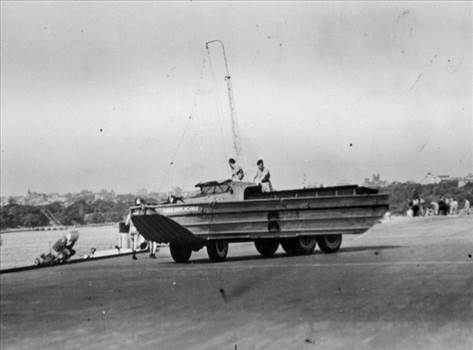 HMS IMPLACIBLES DUKW- JAPAN 1945.jpg by Tony