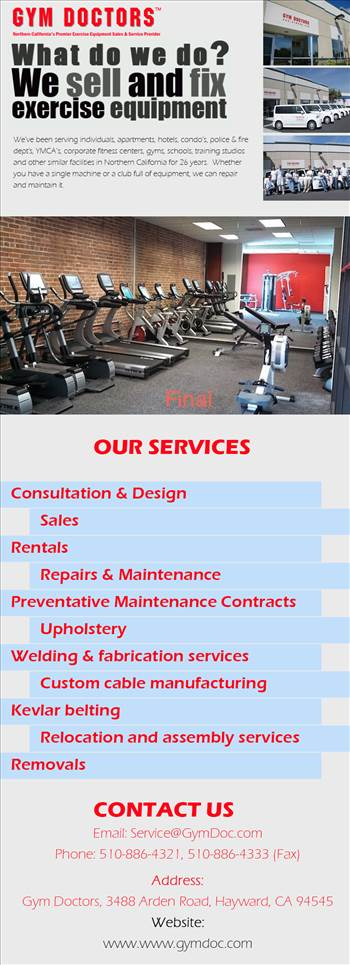 Fitness Equipment Service by gymdoctors